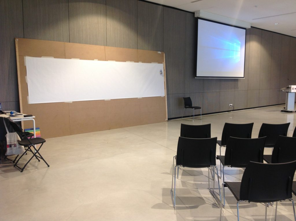 Setup for graphic recording at the INFORM meeting